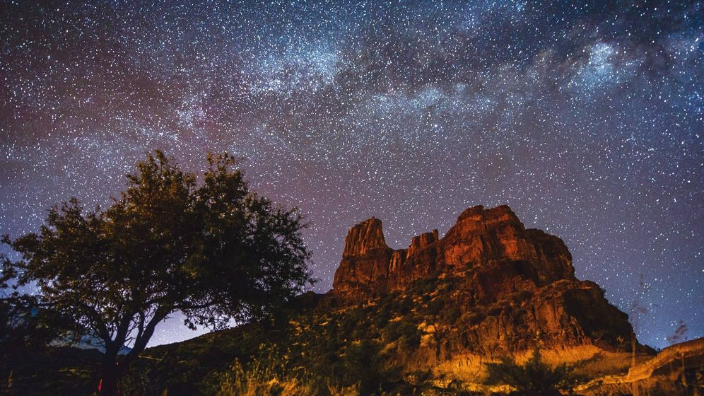 Foto:  The Milky Way over Bentayga (Unesco/© Nacho Gonzalez)