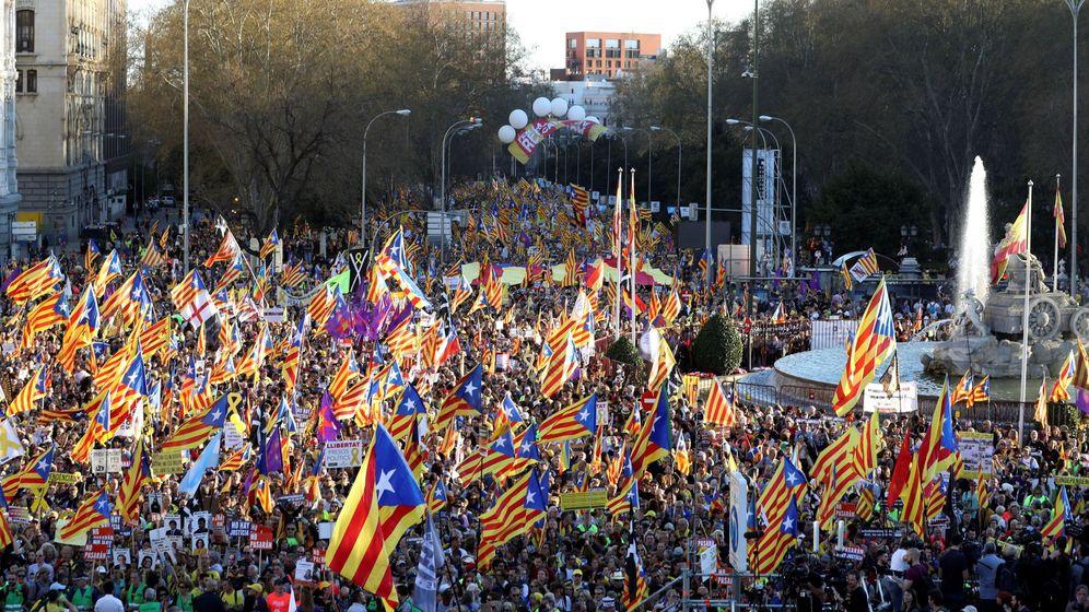 Foto: Imagen de la manifestación secesionista del 16 de marzo en Madrid. (EFE)