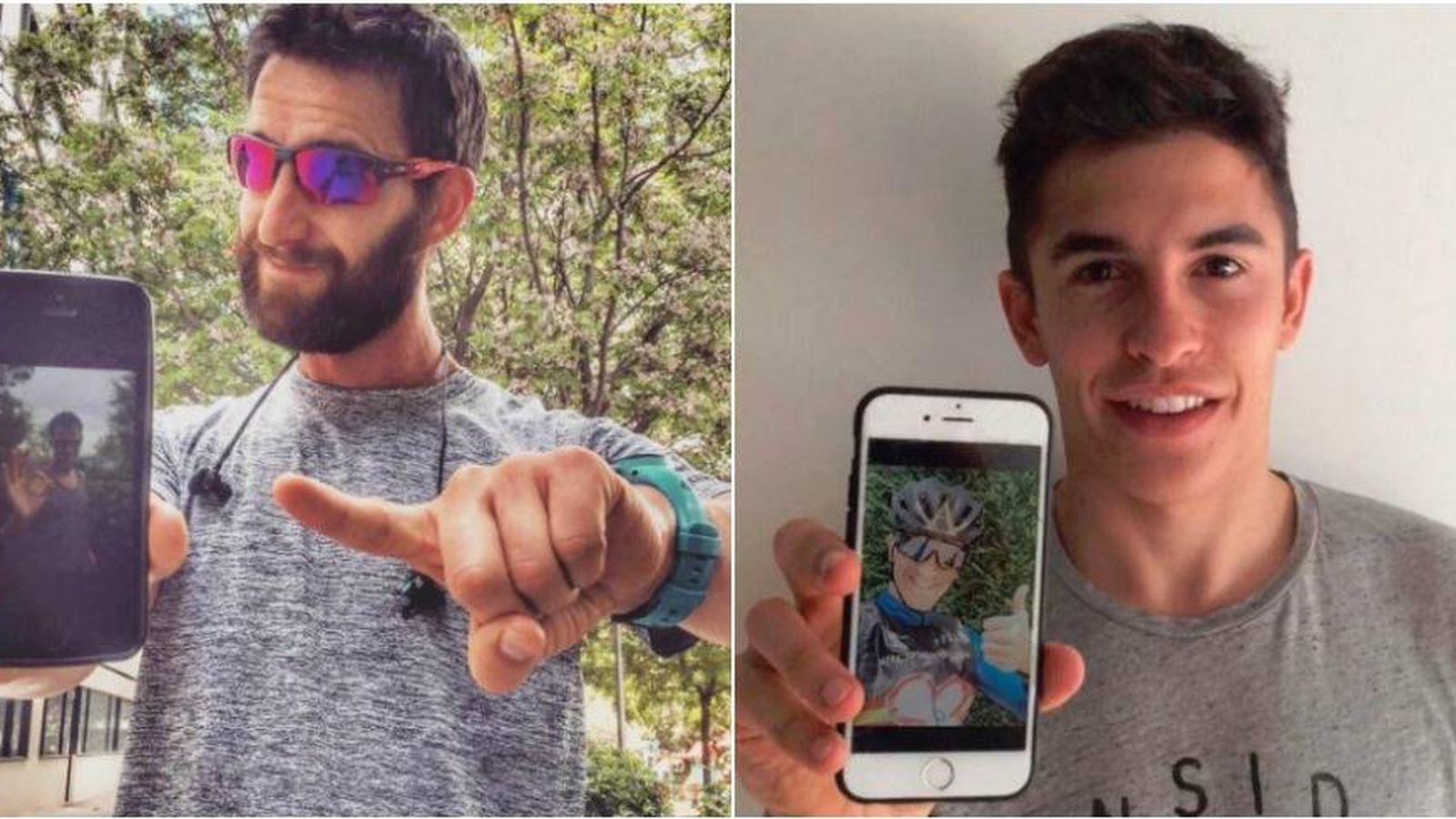 Foto: Dani Rovira y Marc Márquez en dos fotos de su perfil de Instagram.