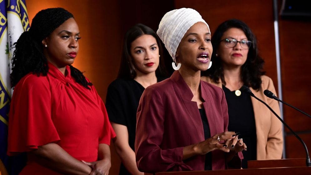 Foto: Ocasio-cortez, omar, pressley and tlaib hold news conference