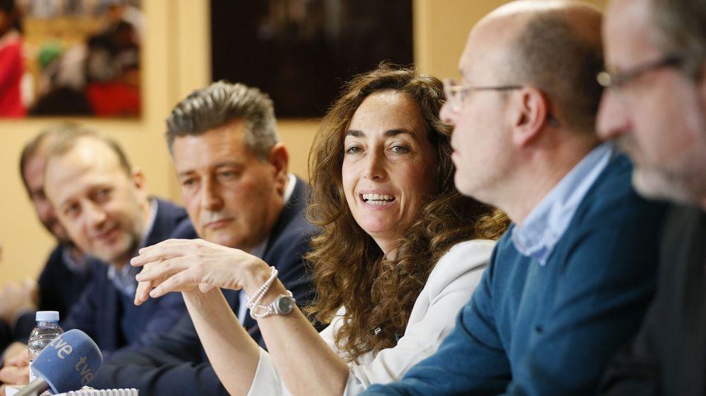 Foto: La eurodiputada de Ciudadanos Carolina Punset durante la rueda de prensa ofrecida hoy en la oficina de la Unión Europea en Madrid. (EFE)