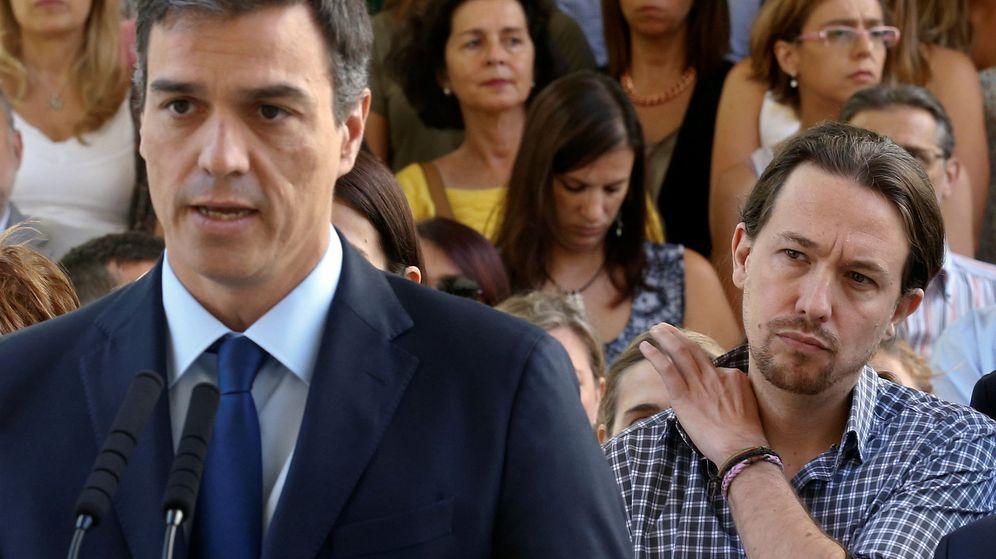 Foto: El presidente del Gobierno, Pedro Sánchez, y el líder de Podemos, Pablo Iglesias