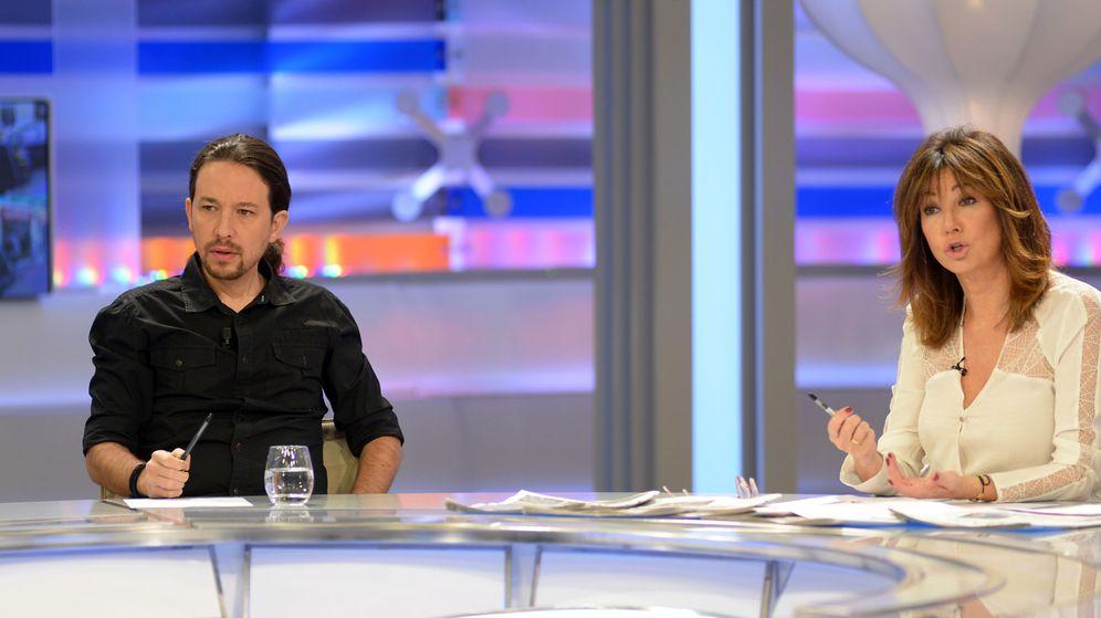 Foto: Fotografía de Pablo Iglesias y Ana Rosa Quintana en 'El programa de Ana Rosa'.