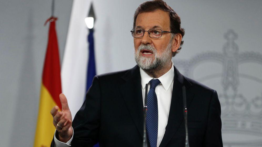Foto: El presidente del Gobierno, Mariano Rajoy, durante su comparecencia. (Reuters)