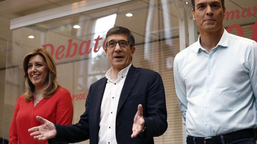 Foto: Los candidatos a la Secretaría General del PSOE, Susana Díaz (i), Patxi López (c) y Pedro Sánchez (d). (EFE)