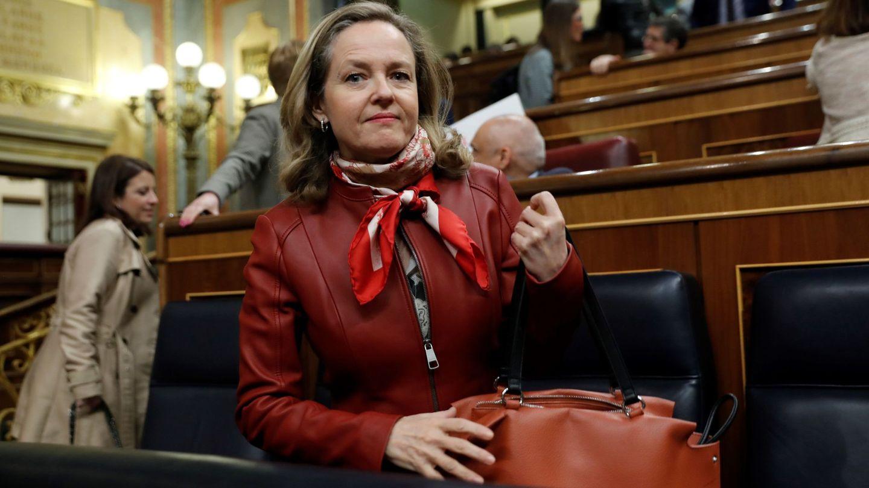 La vicepresidenta de Asuntos Económicos, Nadia Calviño. (EFE)