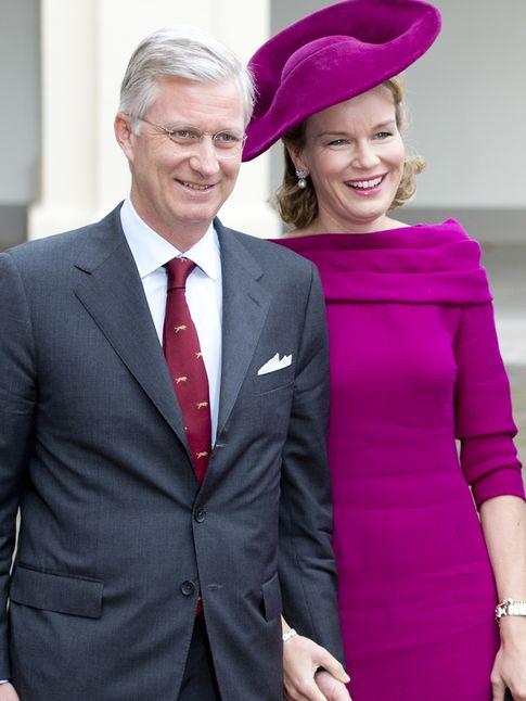 Los reyes Felipe y Mathilde de Bélgica (I.C.)