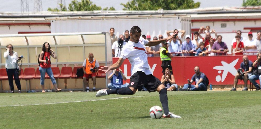 Foto: Diego González, durante un partido con el Sevilla Atlético (Foto: Alejandro González Gala)