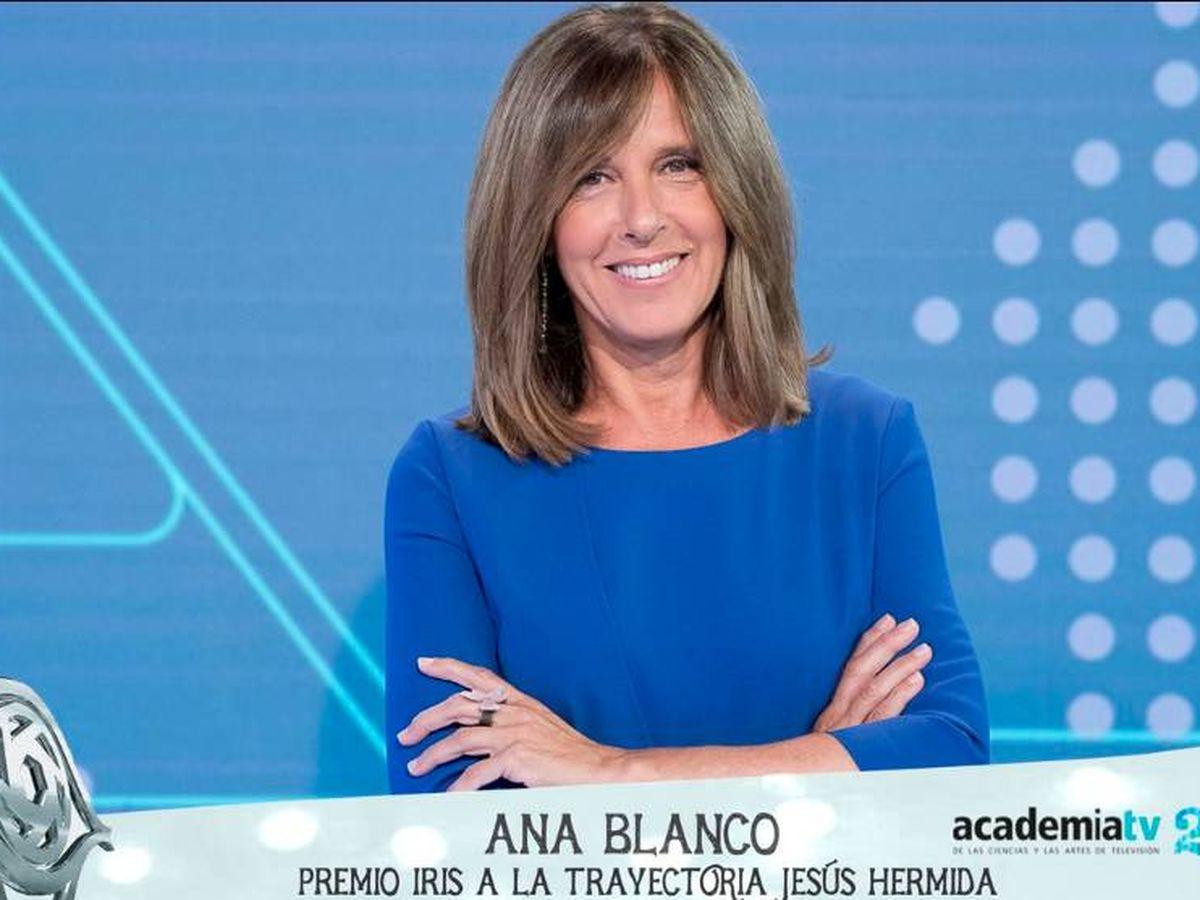 Foto: Ana Blanco, Premios Iris. (Twitter)