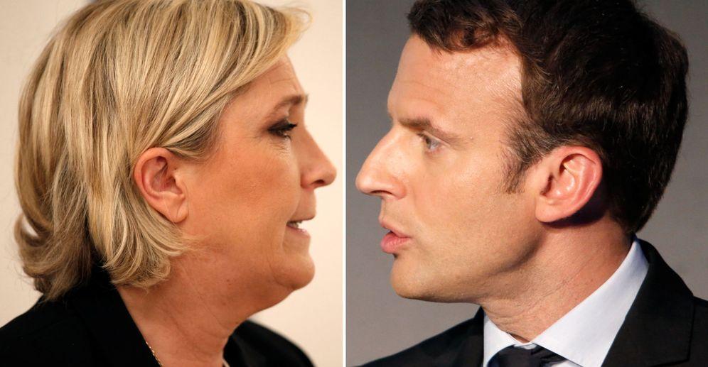 Foto: La ultraderechista Marine Le Pen y el centrista Emmanuel Macron se enfrentarán en la segunda vuelta de las elecciones galas (Reuters)