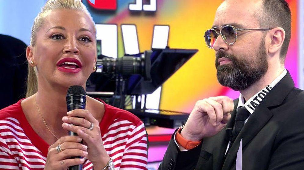 Foto: Belén Esteban y Risto Mejido, en Cuatro. (Mediaset).