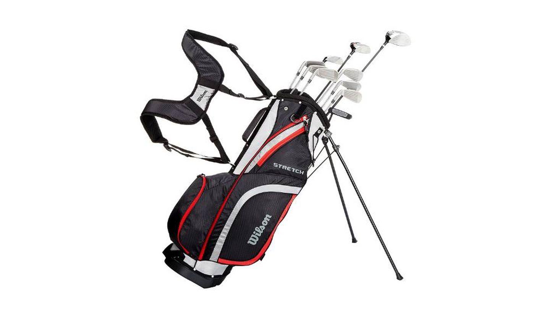 Palos de golf con bolsa de transporte Wilson