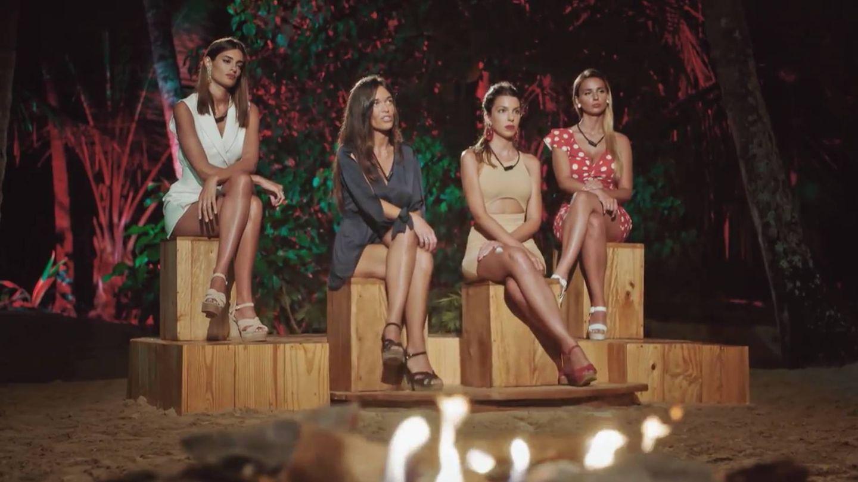 Susana, Fiama, Andrea y Adelina en 'La isla de las tentaciones'. (Mediaset)