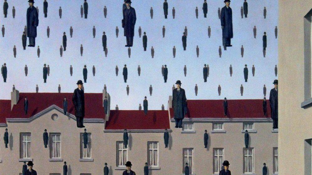 Foto: 'Golconda' de René Magritte.