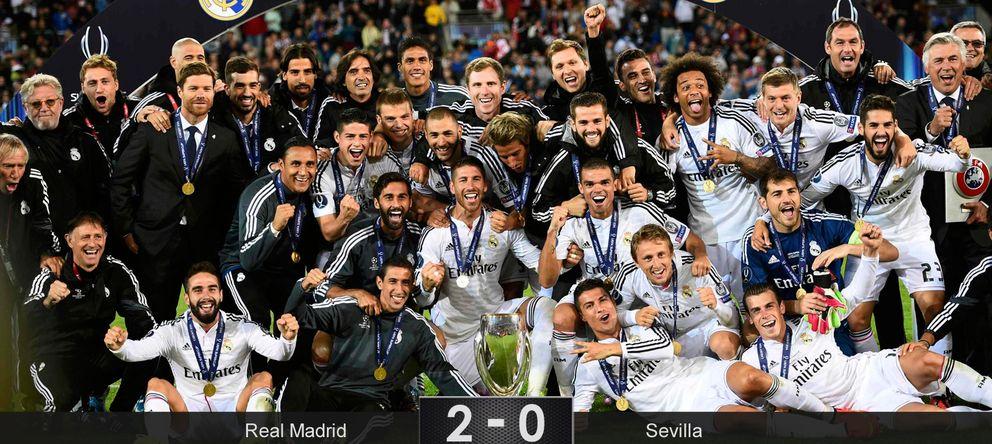 Cristiano lidera el caudal de fútbol blanco para levantar la Supercopa de Europa