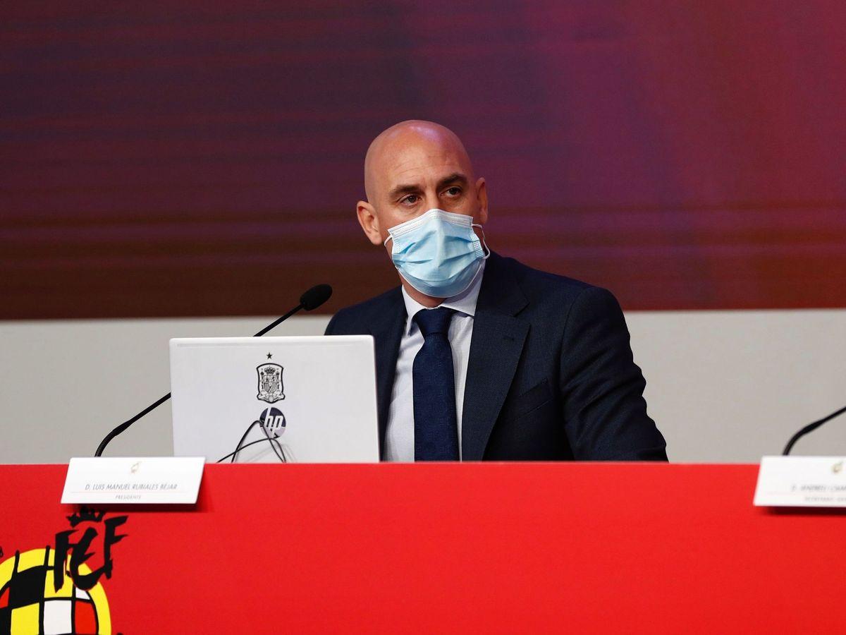 Foto: Luis Rubiales, presidente de la Federación Española de Fútbol (RFEF). EFE