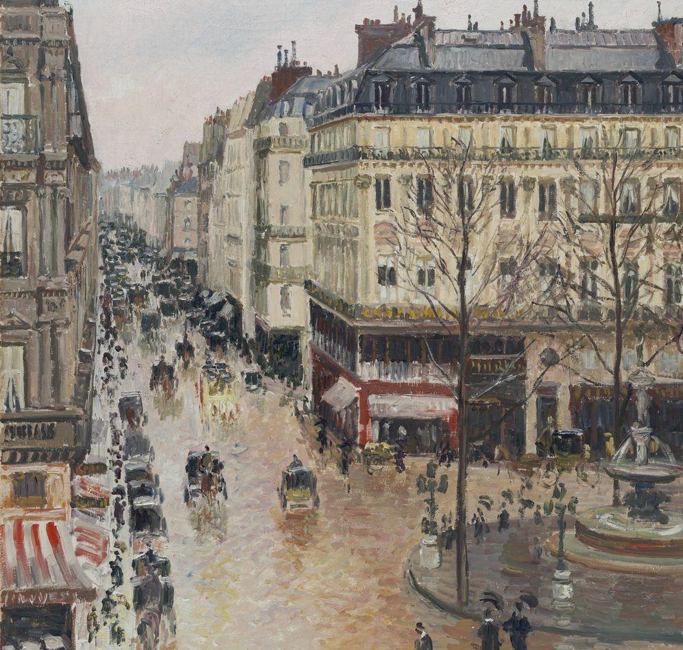 Foto: La obra de Camille Pissarro 'Rue Saint-Honoré por la tarde. Efecto de lluvia', 1897. (Foto: Museo Thyssen- Bornemisza)