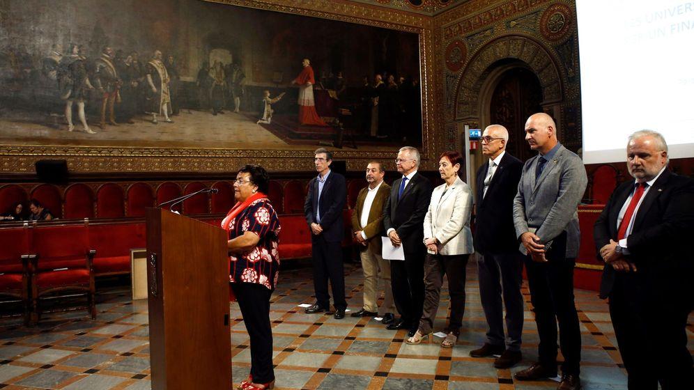 Foto: Rectores de distintas universidades catalanas en una imagen de archivo. (EFE)