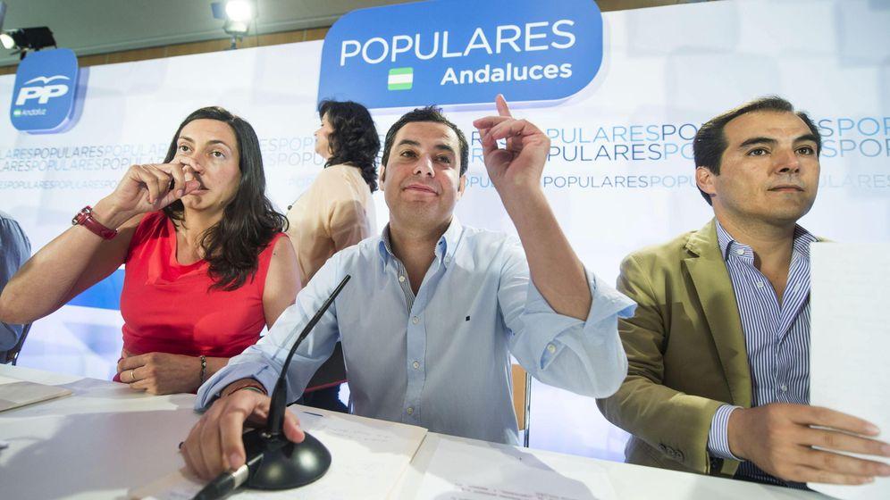 Foto: Juanma Moreno, durante un acto del Partido Popular. (Efe)