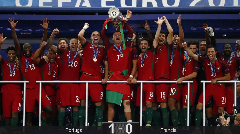 Foto: Cristiano levantó su primer trofeo como capitán. (Reuters)