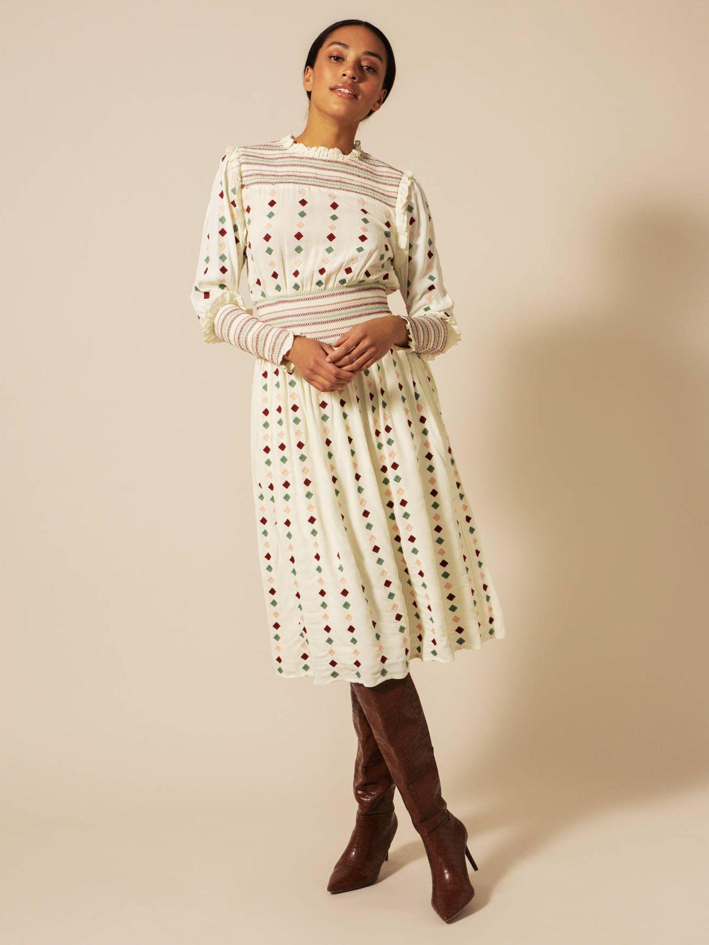 El vestido de By Malina que ha estrenado Victoria de Suecia. (Cortesía)