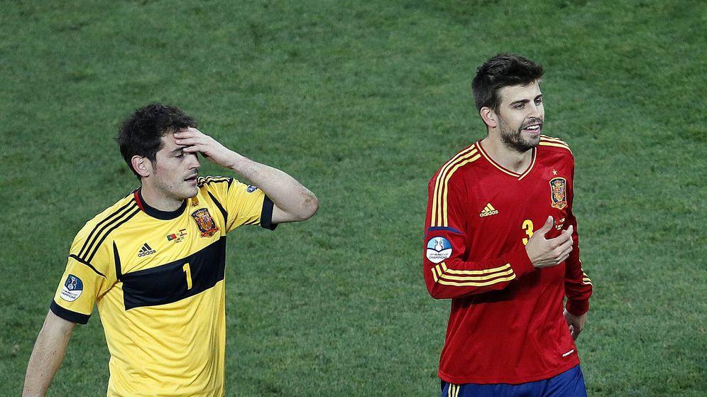 Foto: Iker Casillas y Gerard Piqué (EFE)