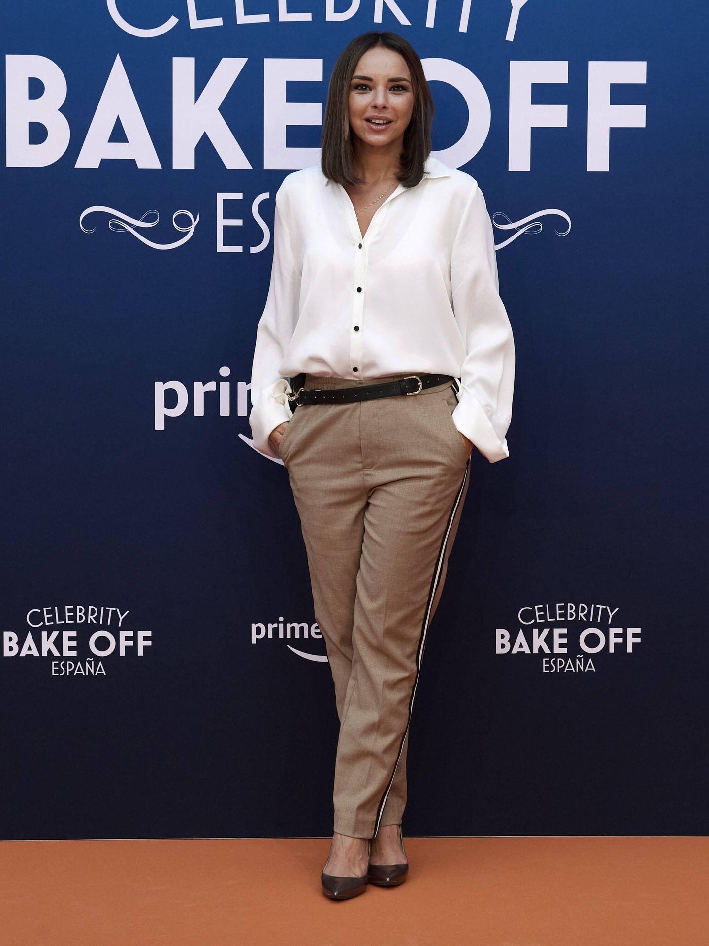 Chenoa, en la presentación de 'Celebrity Bake Off' en el FesTVal 2021. (Getty)
