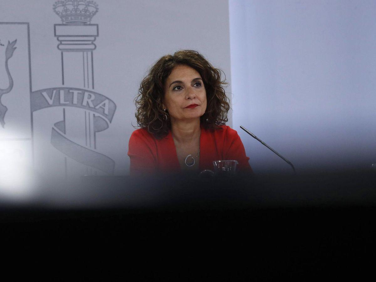 Foto: La ministra de Hacienda y ministra portavoz María Jesús Montero (EFE)