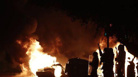 A la quinta noche explotó la calle: batalla campal en Barcelona