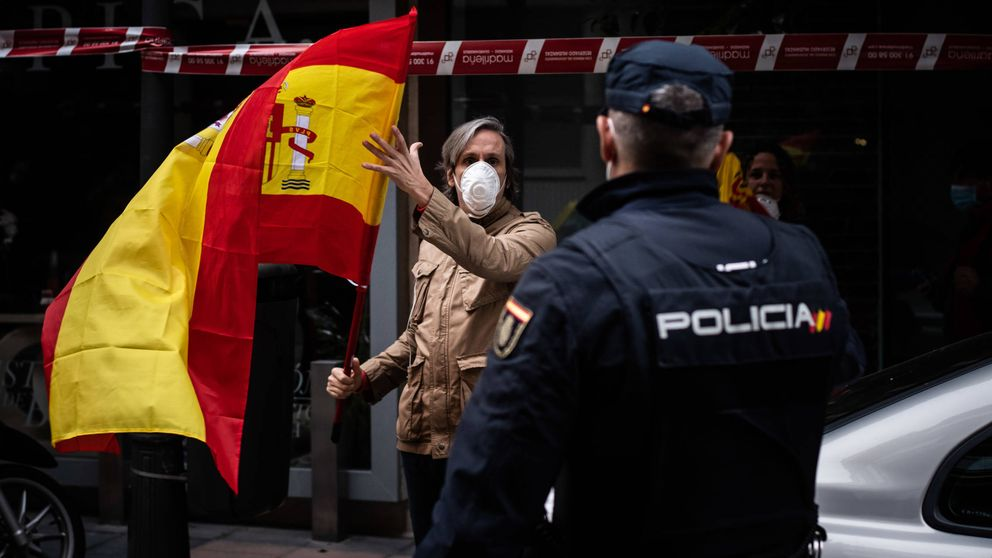 Fuerte despliegue policial ante las protestas en el distrito de Salamanca