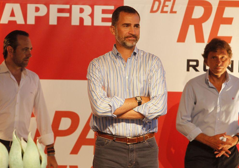 Foto: El Príncipe Felipe en la entrega de premios de la Copa del Rey de vela