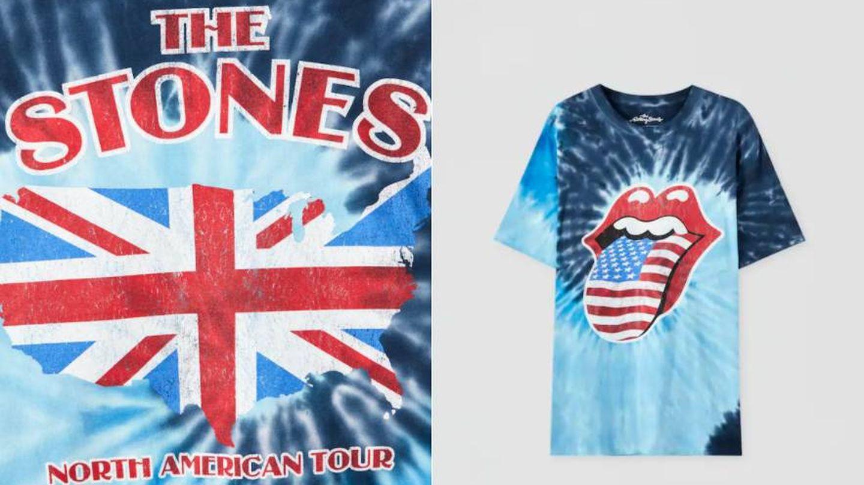 Camiseta de los Rolling Stones de Pull and Bear. (Cortesía)
