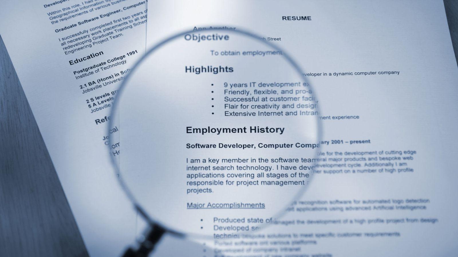 Empleo: 10 palabras que jamás debes utilizar en tu CV o en tu ...