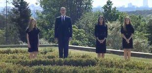 Post de Los Reyes y sus hijas guardan un minuto de silencio por las víctimas del coronavirus