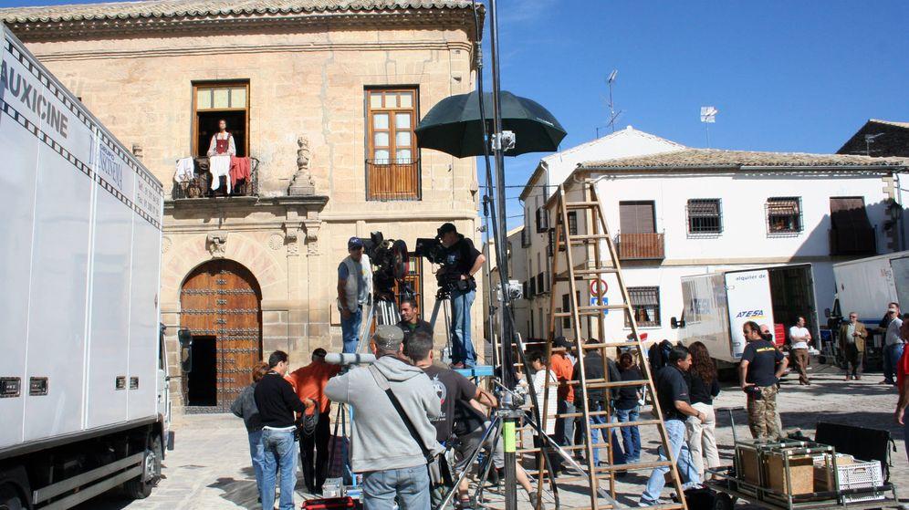 Foto: Un momento del rodaje de 'La conjura del Escorial'. (Foto: Universidad Internacional de Andalucía)