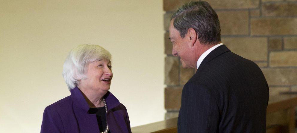 Foto: Mismos estímulos, diferentes ideas... Draghi y Yellen llevan diferentes hojas de ruta