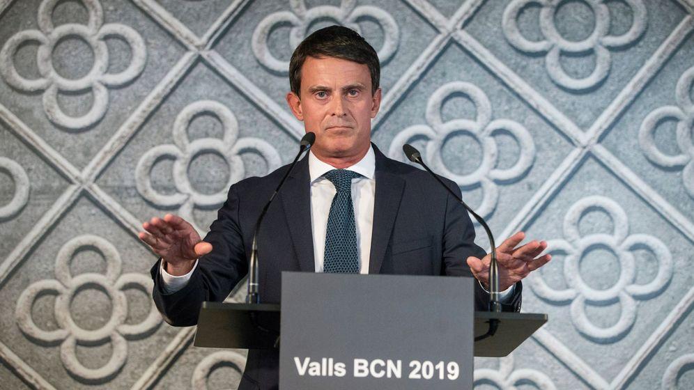 Foto: El ex primer ministro francés Manuel Valls, en la presentación de su candidatura a la alcaldía de Barcelona en las elecciones municipales de 2019. (EFE)