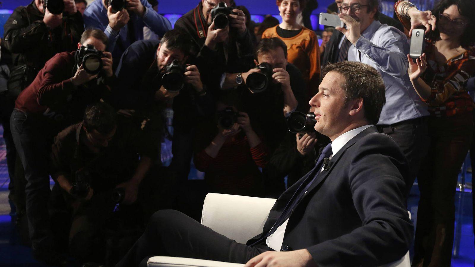 Foto: El primer ministro italiano, Matteo Renzi, durante una entrevista en un programa de televisión (Reuters).