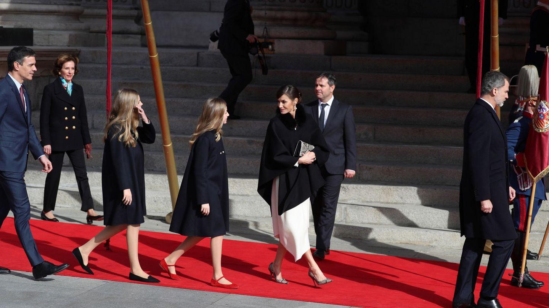 Los reyes Felipe y Letizia, la princesa Leonor y la infanta Sofía. (EFE)