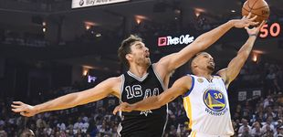 Post de Los Spurs de Pau Gasol dan un repaso a los Warriors de Curry en su propia casa