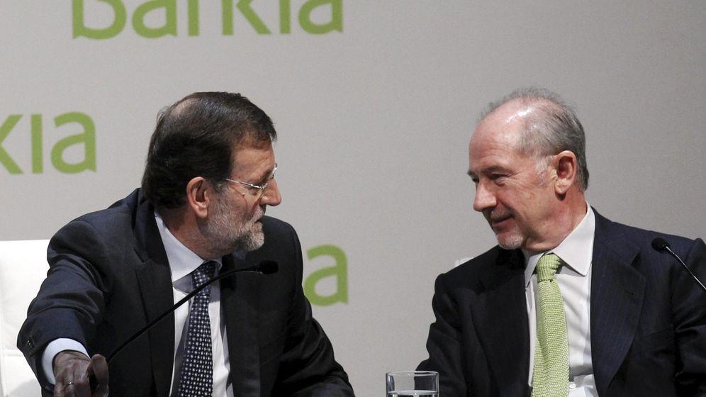 Foto: Mariano Rajoy, expresidente del Gobierno, y Rodrigo Rato, expresidente de Bankia (Reuters)