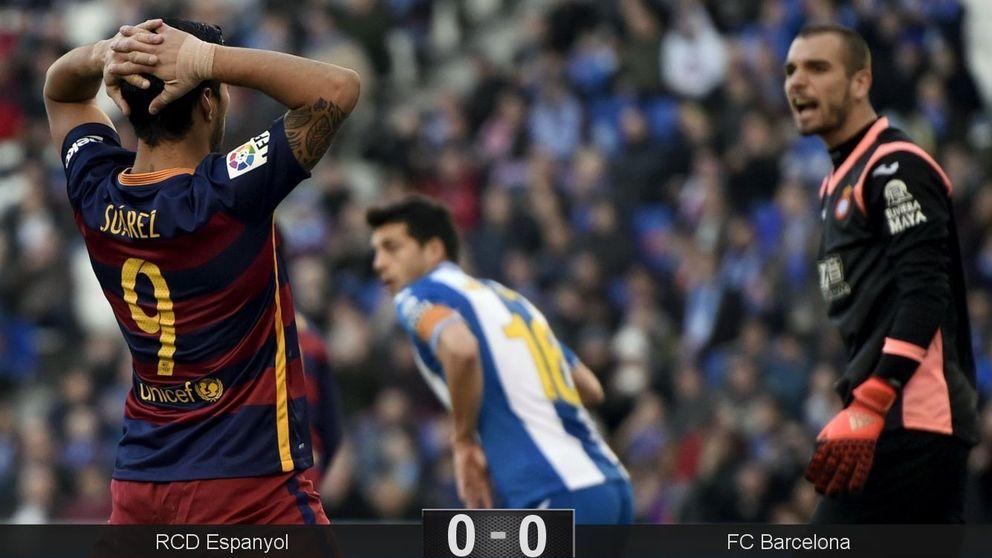 El Barça se atasca contra el Espanyol en el primero de los tres derbis