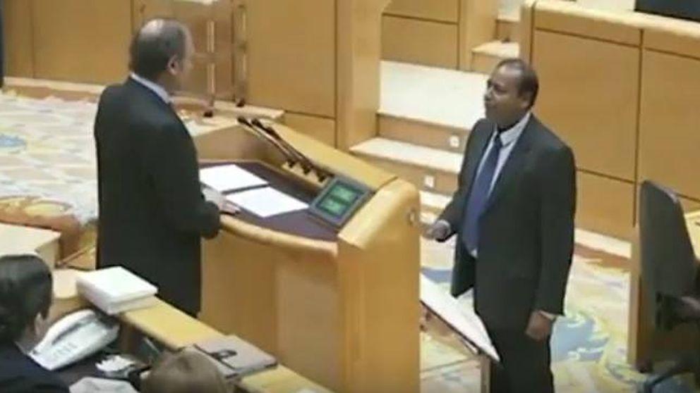 El juramento del senador de Esquerra que sustituye a Vidal y apenas habla español