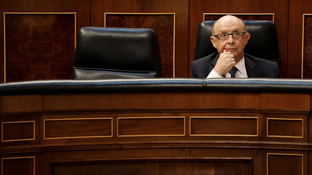 Foto: Cristobal Montoro en el Parlamento. (Reuters)