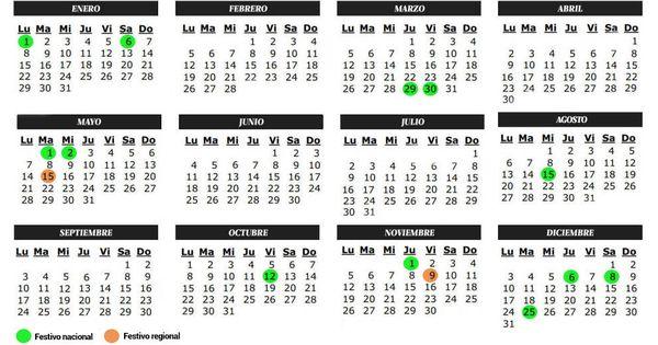 Calendario Del Madrid.Vacaciones Calendario Laboral 2018 Para Madrid Todos Los Festivos