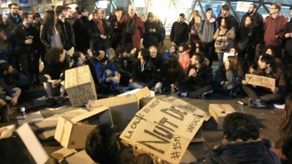 Foto: Concentración en la Puerta del Sol. (Twitter @PcpSol)