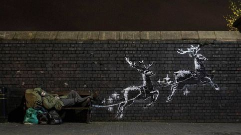 Banksy denuncia la precariedad de las personas sin hogar en un nuevo mural