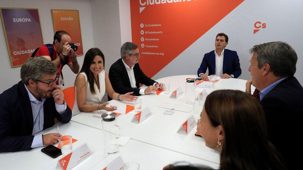 Foto: Albert Rivera, en el comité ejecutivo de Ciudadanos de este lunes. (EFE)