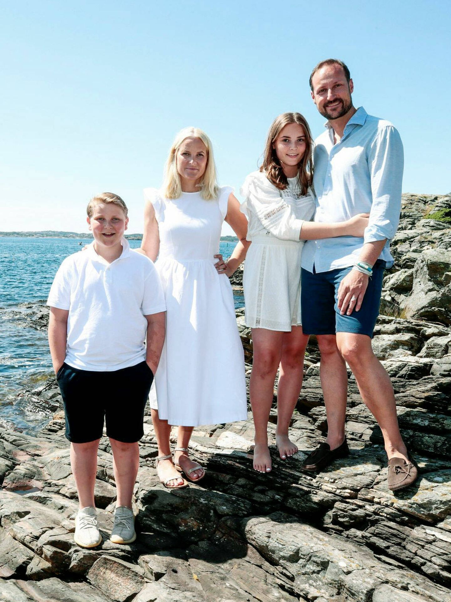 La familia noruega al completo en una imagen de archivo.