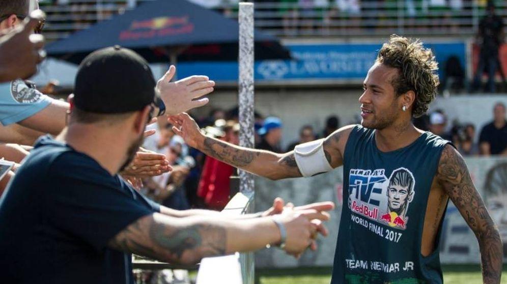 Foto: Neymar, durante un evento promocional de su torneo.